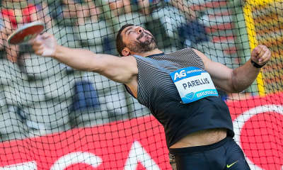 epa05532116 Apostolos Parellis from Cyprus in action during the Men's Discus throw competition at the Memorial Van Damme IAAF Diamond League international athletics meeting at King Baudouin stadium in Brussels, Belgium, 09 September 2016.  EPA/STEPHANIE LECOCQ