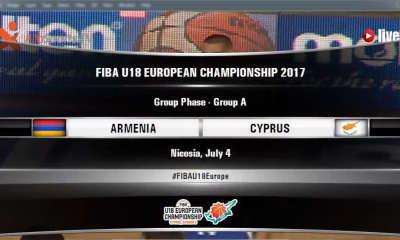 fiba u18 - armenia cyprus